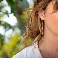Délicates perles de rosée pour sublimer son chignon défait...  Attention, @annedecisoff prépare la réouverture des terrasses! 😝 . #bouclesdoreilles  #dahlia #bijoufrancais #creatricesmarseillaises #bijoudemariee  #weddingjewellery  Photos @charlotteschousboe
