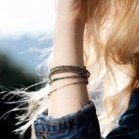 Chez Oma bloom, vous le savez, on aime les bijoux transformables!  Et dans cette catégorie, il y en a un que vous aimez particulièrement, c'est le sautoir SANDRINE, qui se porte également en collier 2 tours et en bracelet 5 tours… un vrai 3 en 1!🤗  Avec des Hématites Gold ou Silver, il se décline en plusieurs coloris, en perles de verre et cristaux Swarovski…  #bijouxcreateur #madeinfrance #madeinmarseille #3en1 #intemporel