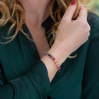 Le bracelet ROMANE, fin et coloré⭐️  #bijoucreateur #madeinmarseille #pierresemiprecieuse #hematite #saravah